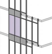 Continuous mullion stick curtain wall
